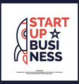 start up income and success business vector image vector image