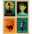 Stylized retro posters for Halloween party vector image vector image