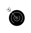 target icon black sign on vector image vector image