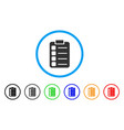 tasks rounded icon vector image vector image