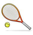 tennis racquet cartoon vector image vector image