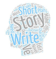 The Long And The Short Of The Short Story text vector image vector image