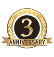 Three Year Anniversary Badge vector image vector image