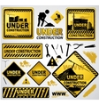 under construction signs vector image vector image