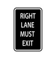 usa traffic road signs you must exit if you vector image