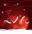 valentine day with love heart light Background vector image vector image