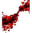 valentines love background with hearts vector image vector image