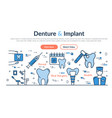 web site header - denture and implant vector image vector image