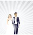 wedding couple background vector image vector image