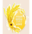 Wheat decoration vector image vector image