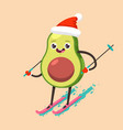 winter sports and activities cute fruit vector image vector image