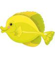 yellow tang fish vector image