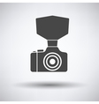 Camera with fashion flash icon vector image