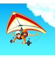 Hang gliding tandem vector image