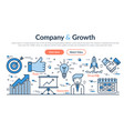 web site header - company and growth vector image