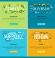 our team startup and idea support web poster vector image