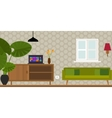 living room home interior vector image