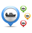 Transport Barge Icon vector image