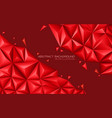 abstract red tone triangle 3d design modern vector image vector image