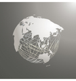 abstract world map sphere Asia vector image vector image
