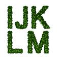 Alphabet ijklm vector image vector image