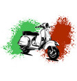 an italian scooter with vector image vector image