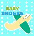 baby shower card with a toy vector image vector image