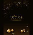 background christmas design with ball glowing vector image