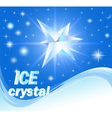 background with shiny crystals of ice vector image