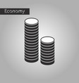 black and white style icon stacks of coins vector image vector image