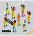 black lives matter composition vector image