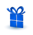 Blue gift vector image vector image