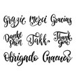 calligraphy set different languages vector image vector image
