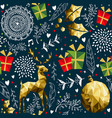 christmas vintage holiday background pattern vector image vector image