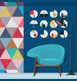 cool living room decorating vector image