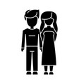 couple in love - young icon vector image vector image