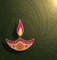 creative diwali design vector image vector image