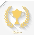 Cup Award with laurel wreath vector image vector image