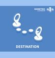 destination icon isometric template vector image