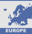 europe map flat vector image vector image