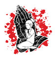 girl praise god prayer christian praying graphic vector image vector image