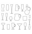 Glasswares outlines vector image vector image