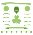 Green eco ribbons set of St Patrick Day vector image