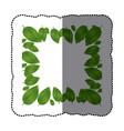 green leaves framework icon vector image
