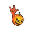 halloween pumpkin rocks jack o lantern vector image