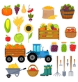 Harvest symbols isolated vector image vector image