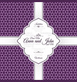 invitation card with purple geometric pattern vector image vector image