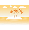 island in sun vector image vector image