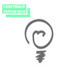 light bulb line icon isolated on white vector image vector image