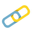 link building flat icon seo and development vector image